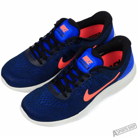 NIKE 男 LUNARGLIDE 8 慢跑鞋 藍/橘 -843725402