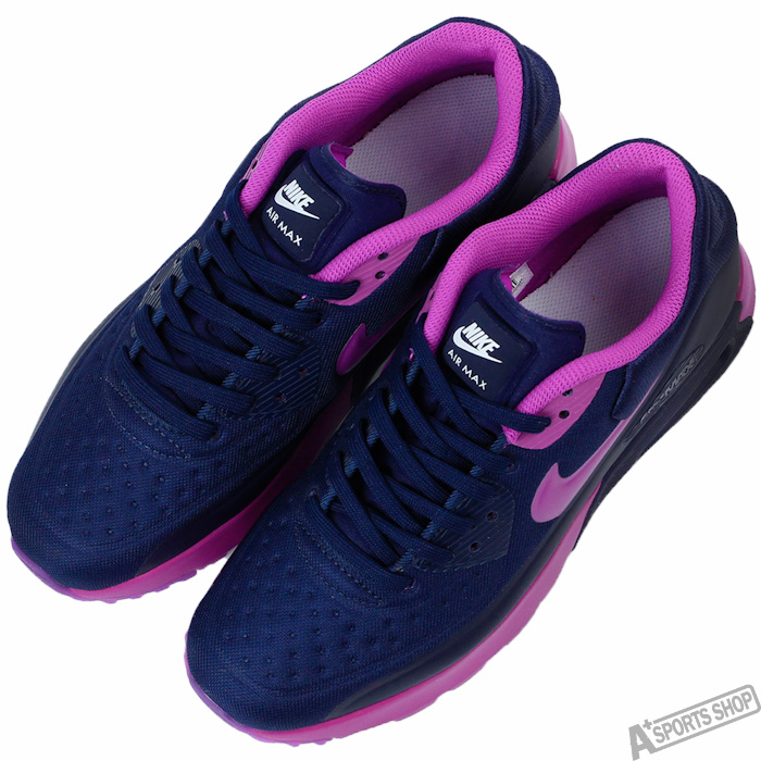 NIKE 女 AIR MAX 90 ULTRA SE GS 復古鞋 藍/紫 -844600400