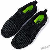 NIKE 男 ROSHE TWO FLYKNIT 慢跑鞋 黑 -844833001