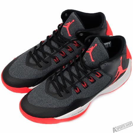 NIKE 男 JORDAN RISING HIGH 2 X 籃球鞋 黑/紅 -845843006