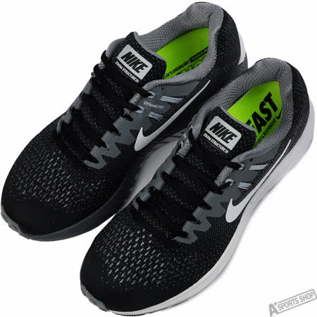 NIKE 男 AIR ZOOM STRUCTURE 20 慢跑鞋 黑 -849576003