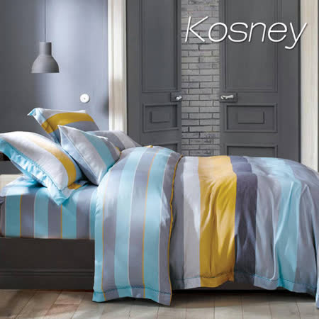 《KOSNEY  菲爾斯》雙人100%天絲TENCEL八件式兩用被床罩組