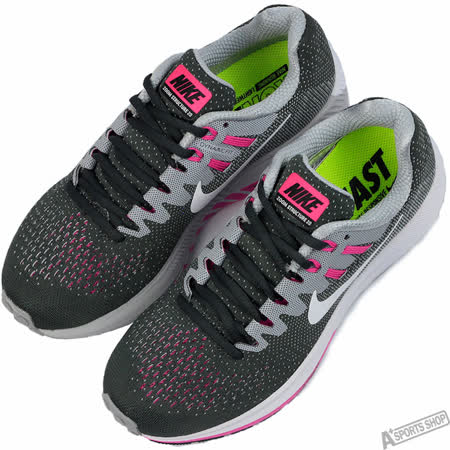 NIKE 女 WMNS AIR ZOOM STRUCTURE 20 慢跑鞋 灰 -849577006