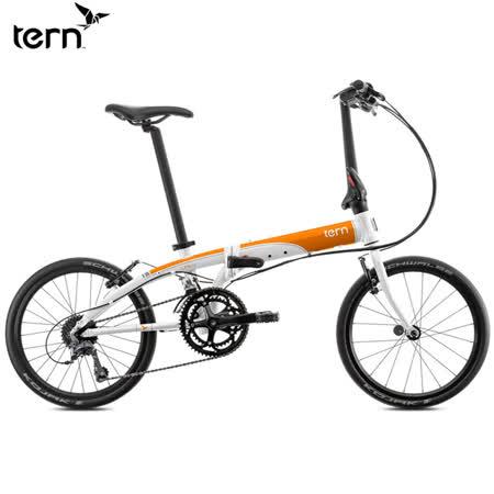 Tern Link D16 鋁合金20吋16速折疊單車-白底橘標