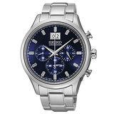 SEIKO 精工 CS大日期視窗不鏽鋼計時腕錶/42mm/7T04-0AE0L