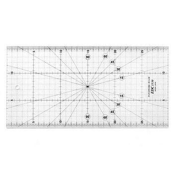 日本車樂美JANOME 專業防刮拼布尺 30x15cm EDC1530