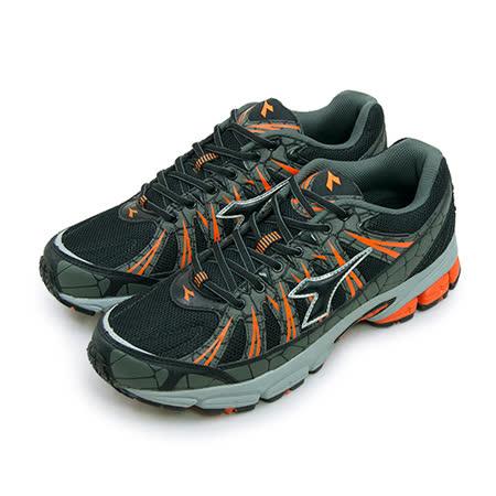 【男】DIADORA 全地形專業慢跑鞋 KEEP ON 烈火奔馳系列 灰黑橘 2918