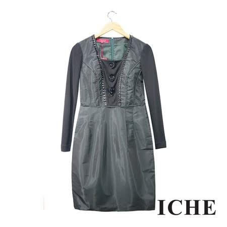 ICHE衣哲 假兩件拼接造型洋裝