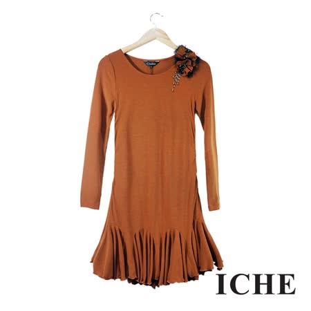 ICHE衣哲 合身顯瘦連身洋裝