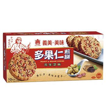 義美美味多果仁花生芝麻煎餅160g