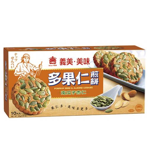 義美美味多果仁南瓜子杏仁煎餅160g