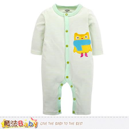 魔法Baby 包屁衣 純棉舒適寶寶長袖連身衣 k60251
