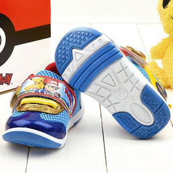 童鞋城堡-神奇寶貝(寶可夢) 中童 LED電燈運動鞋PA7303-藍