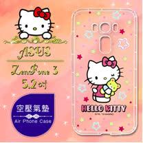 三麗鷗授權 Hello Kitty 凱蒂貓 ASUS ZenFone 3 5.2吋 ZE520KL 彩繪空壓手機殼(星星)
