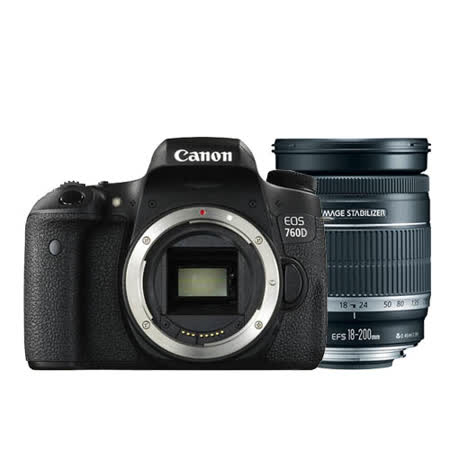 Canon EOS 760D body(公司貨) + 18-200mm (平輸)-加送64G高速記憶卡+專用電池座充組+快門線+遙控器+大吹球清潔組+拭鏡筆+熱靴蓋+專用相機包