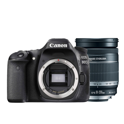 Canon EOS 80D body(公司貨) + 18-200mm (平輸)-加送64G記憶卡+專用電池X2+專用快門線+專用遙控器+大吹球清潔組+拭鏡筆+熱靴蓋+HDMI+專用相機包