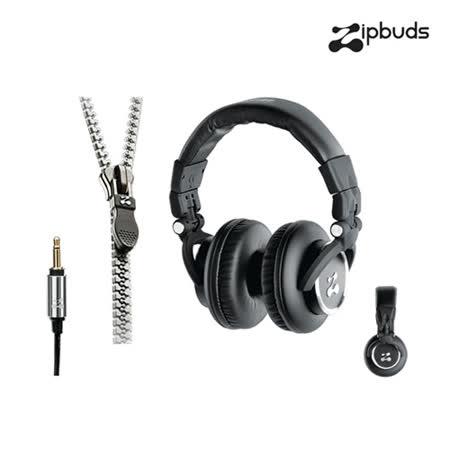 【Zipbuds】拉鍊專利耳機-耳罩式 Choice 系列-潮流黑