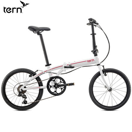 Tern Link B7 鋁合金20吋7速折疊單車-白底紅標