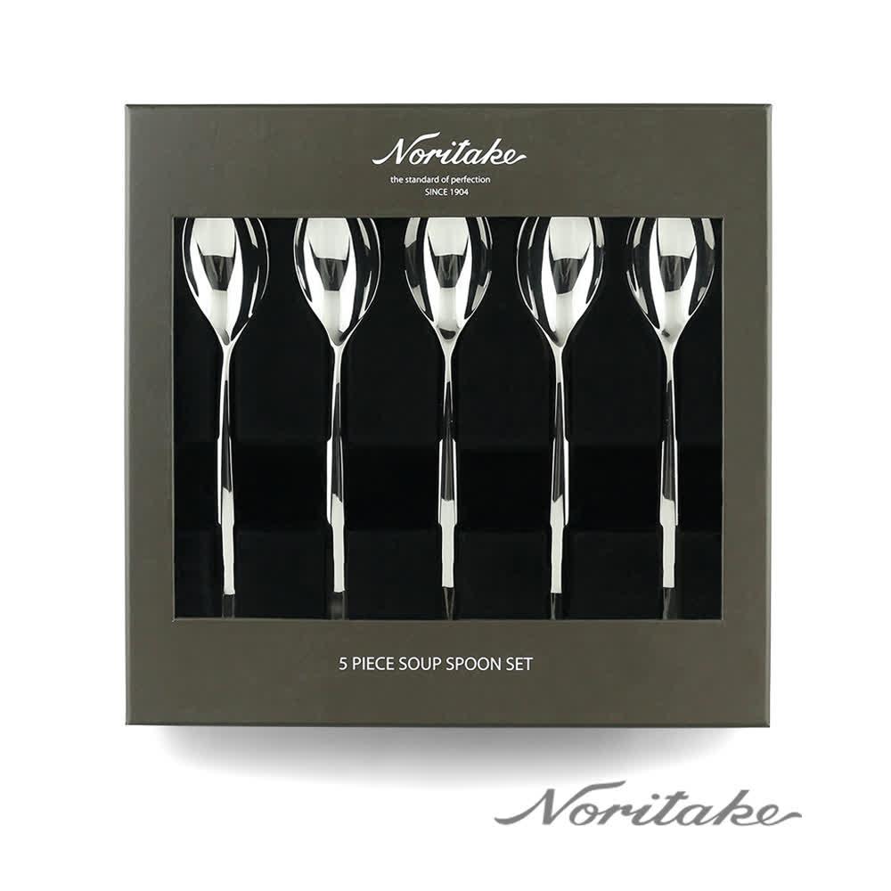 【NORITAKE】摩登5件餐匙組禮盒