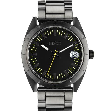 NIXON The Rover SS II 強眼時尚腕錶-黑x鐵灰/42mm A359-632