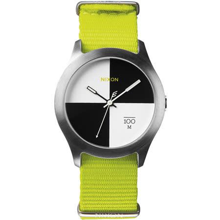 NIXON The Quad 混搭潮流時尚腕錶-黑x白/39mm A344-1262