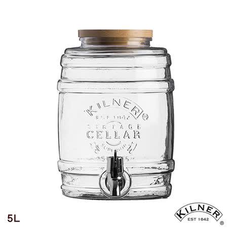 【KILNER】木蓋酒桶造型飲料桶5L
