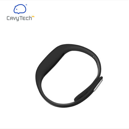 【豚鼠科技】CavyTech 豚鼠手環二代專用腕帶扣美國液態矽膠材質(黑)