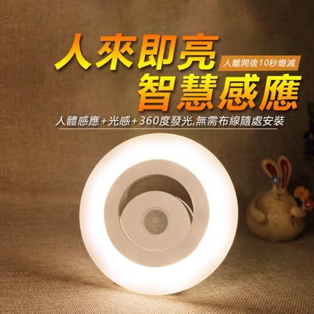 (二入特惠組) 360度全方位人體感應LED照明燈 人體感應+光感控制感應燈