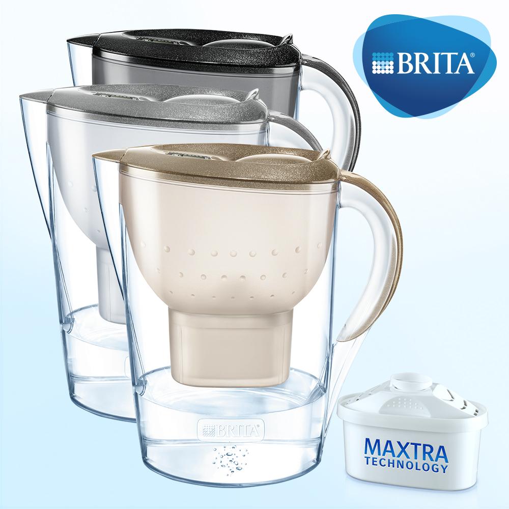 【德國BRITA】馬利拉3.5L星燦濾水壺+MAXTRA一入濾芯(本組合共2芯)