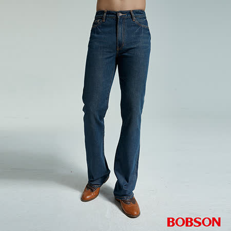 BOBSON 男款鬼爪深藍喇叭褲(1668-77)