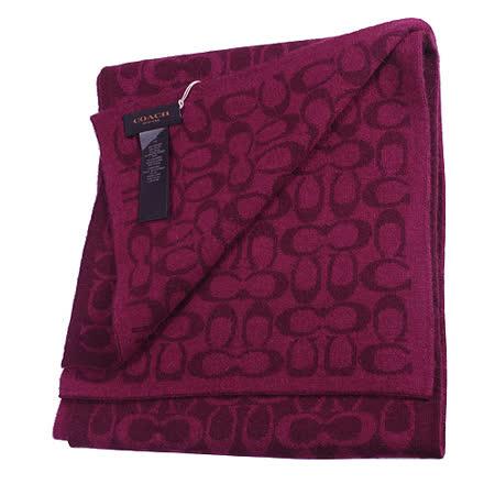 【COACH】新款經典LOGO圍巾、披肩(紅)