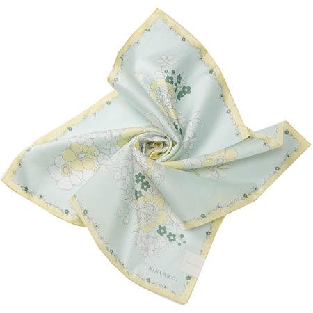 NINA RICCI 藤蔓花帕巾-(大/綠黃)