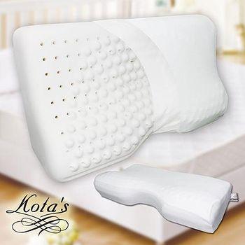 KOTAS 肩頸工學 釋壓型 高透氣 高彈力 乳膠枕 (白)