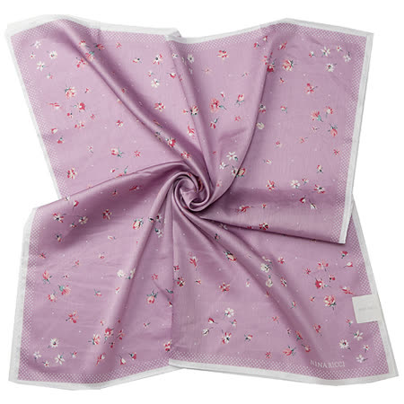 NINA RICCI 小花帕巾-(大/紫)