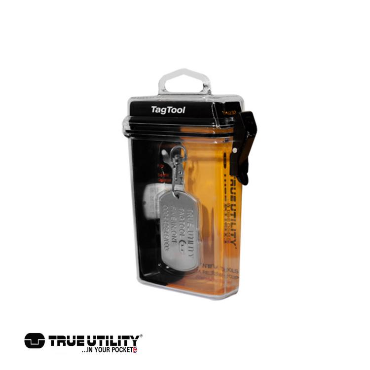 TRUE UTILITY TagTool 5合1鐵牌鑰匙圈工具組城市綠洲 戶外、工具組、鑰匙圈、英國