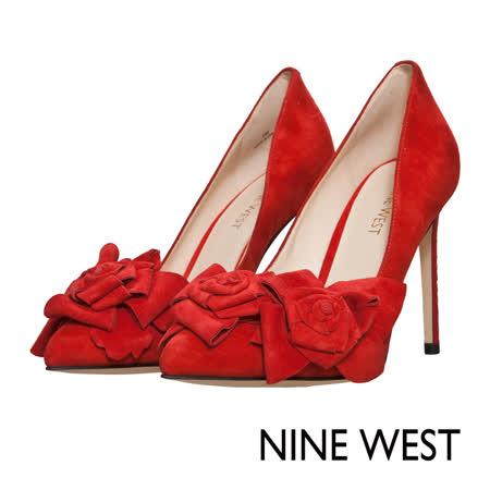 NINE WEST--花樣時尚高跟鞋--魅力紅