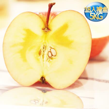 果之家 特選日本青森無套袋蜜蘋果禮盒18顆入(5公斤)