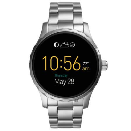 FOSSIL Q MARSHAL 系列觸控智慧型腕錶-黑x銀/45mm FTW2109