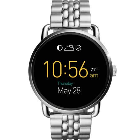 FOSSIL Q WANDER 系列觸控智慧型腕錶-黑x銀/45mm FTW2111