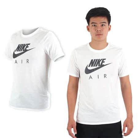 (男) NIKE 短袖針織衫-T恤 慢跑 路跑 訓練 白黑