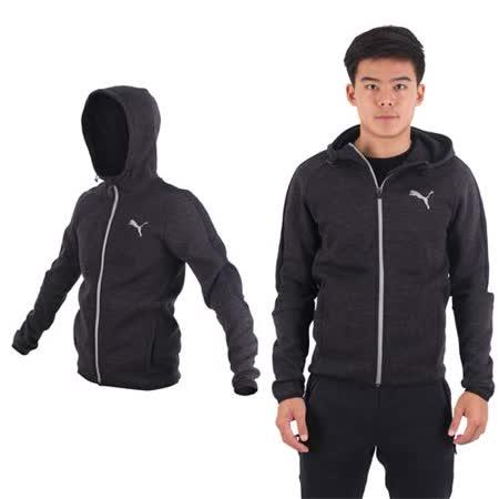 (男) PUMA ACTIVE 基本系列連帽外套-立領 慢跑 路跑 訓練 黑深灰