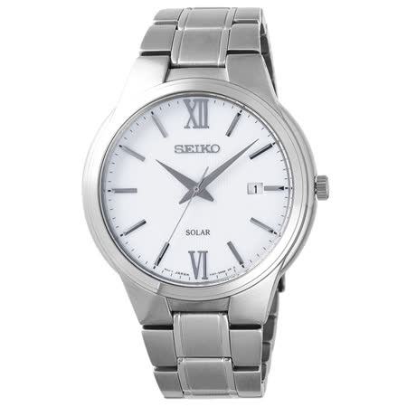 SEIKO 熱情羅馬時尚太陽能腕錶-SNE385P1