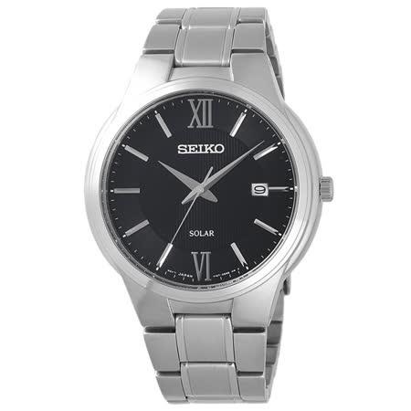 SEIKO 熱情羅馬時尚太陽能腕錶-SNE387P1
