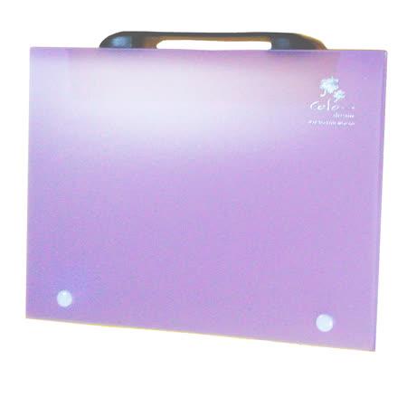 【檔案家】立體手把輕盈A4公文盒(30) 紫