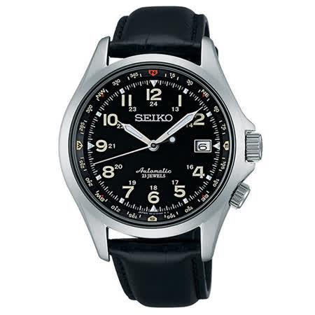 SEIKO 6R15精工23 機械腕錶-黑/40mm 6R15-02N0J(SARG007J)