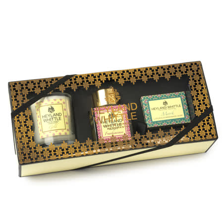 【H&W英倫薇朵】馨香擴香禮盒 (香氛燭75g+擴香瓶50ml+手工香氛皂45g)