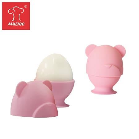 【MULTEE摩堤_鑄鐵鍋系列用品】繽紛小熊動物蛋杯─一組2入