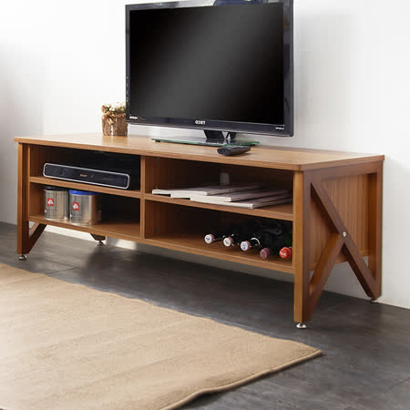北歐森林原木色系四格收納電視櫃