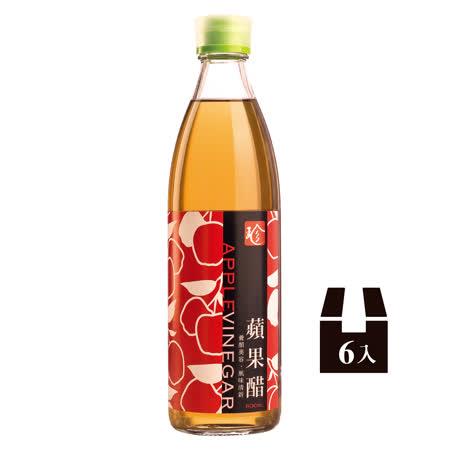 【百家珍】蘋果醋600ml*6入