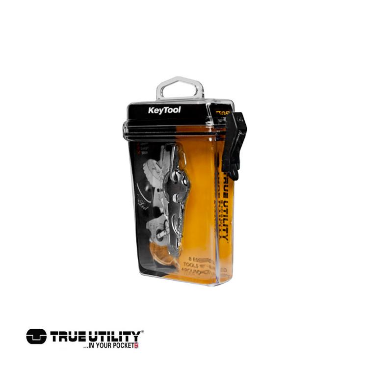 TRUE UTILITY KeyTool 8合1迷你鑰匙圈工具組城市綠洲 戶外、工具組、鑰匙圈、英國